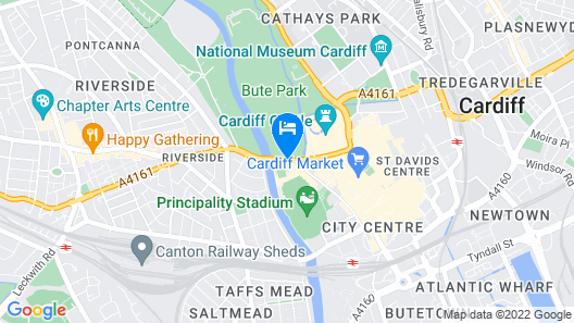 Holiday Inn Cardiff City Centre Map