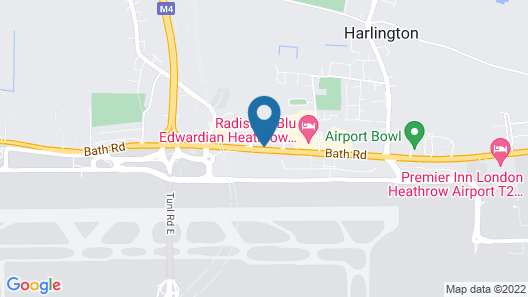 Novotel London Heathrow Airport T1 T2 and T3 Map