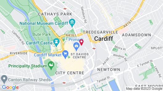Jurys Inn Cardiff Map