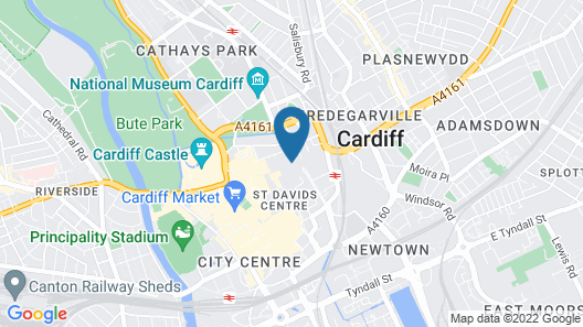 Jurys Inn Cardiff Map