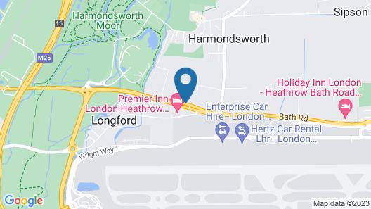 Sheraton Heathrow Hotel Map