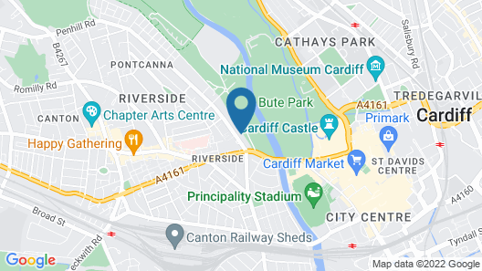 The Spires Cardiff Map