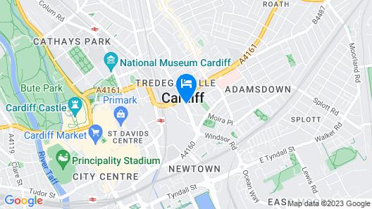 easyHotel Cardiff Map