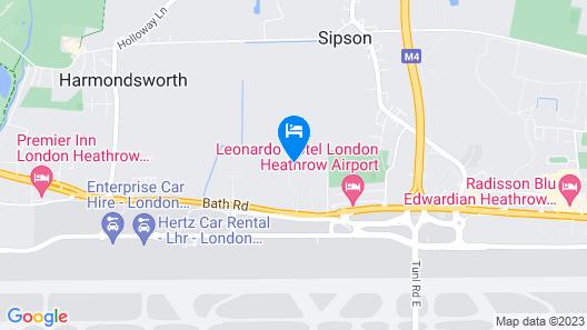 Staybridge Suites London Heathrow - Bath Road Map