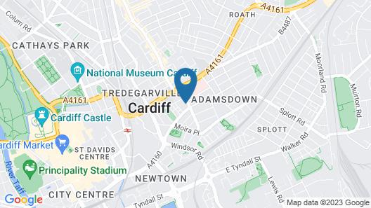 Modern Studios in Cardiff Map