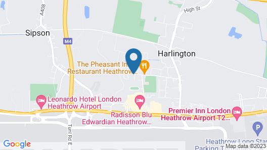 Apple House Guesthouse Heathrow Airport Map