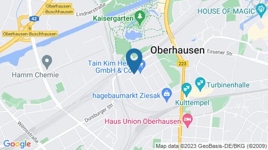 Select Hotel am Centro Oberhausen Map