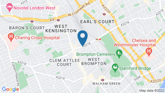 ibis London Earls Court Map