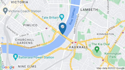 Views of the River by Vauxhall Bridge Map