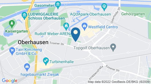 Hotel Oberhausen Neue Mitte affiliated by Meliá Map