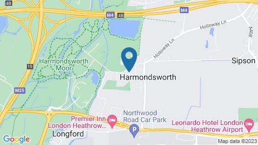 Harmondsworth Hall Guest House Heathrow Map