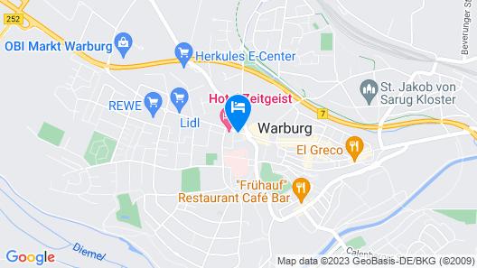 Hotel Zeitgeist Map