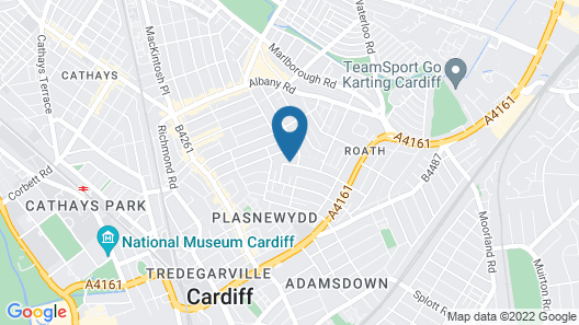 Oakfield Street Apartments by Cardiff Holiday Homes Map