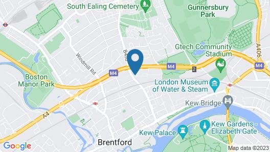 Novotel London Brentford Map