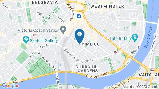 The Portico Hotel - FKA Hanover Hotel Victoria Map