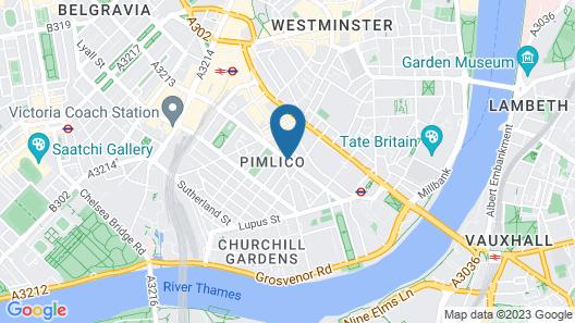 Comfort Inn London - Westminster Map