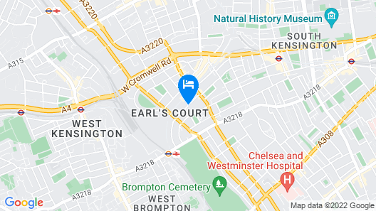 Oxford Hotel Earl's Court Map