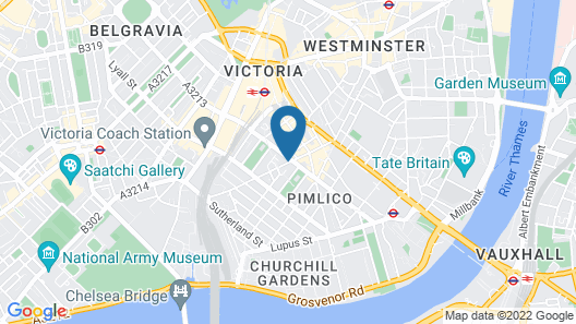 Best Western Victoria Palace Map