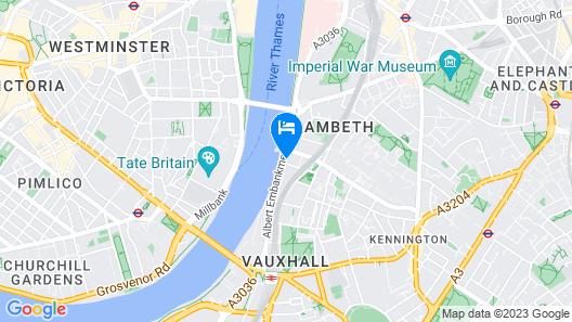 Crowne Plaza London - Albert Embankment Map
