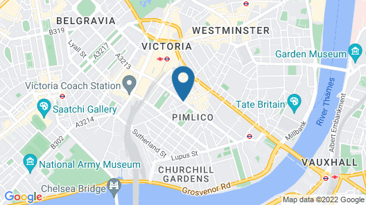St George's Inn Victoria Map