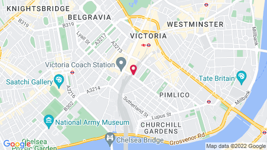 Best Western Buckingham Palace Rd Map
