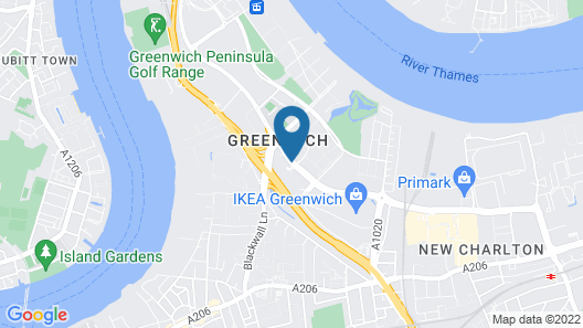 Holiday Inn Express London - Greenwich Map