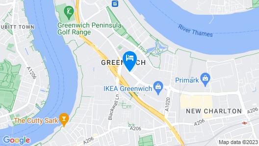 Holiday Inn Express London - Greenwich Map