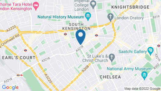 100 Queen's Gate Hotel London, Curio Collection by Hilton Map