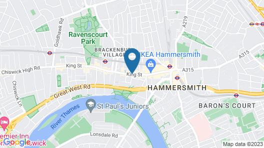 Holiday Inn Express London Hammersmith Map