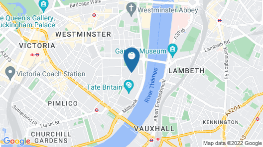 DoubleTree by Hilton Hotel London - Westminster Map