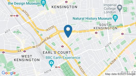 Dreamtel London Kensington Map