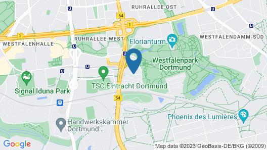 Radisson Blu Hotel Dortmund Map