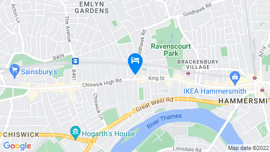 Chiswick Rooms Map