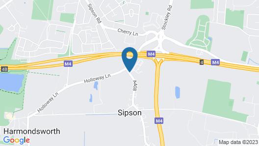 Holiday Inn London - Heathrow M4,jct.4 Map