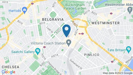 B+B Belgravia Map