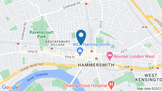 Heeton Concept Hotel-Luma Hammersmith Map