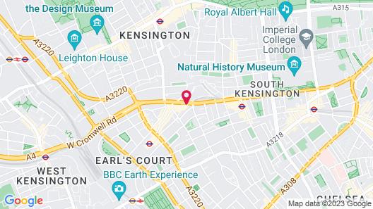 London Marriott Hotel Kensington Map
