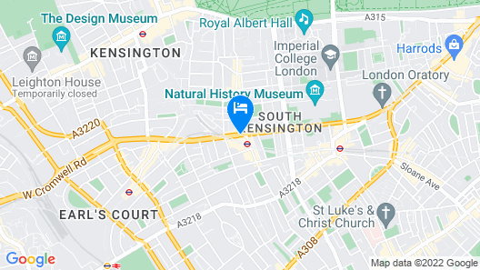 Crowne Plaza London - Kensington Map
