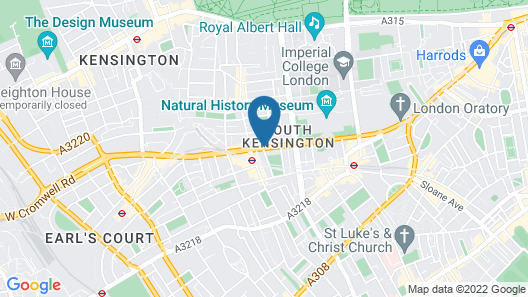 Radisson Blu Edwardian Vanderbilt Hotel, London Map