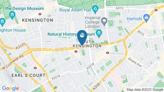 Fraser Suites Queens Gate Map