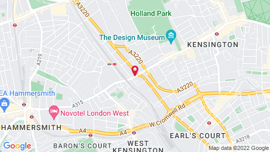 Hilton London Olympia Map