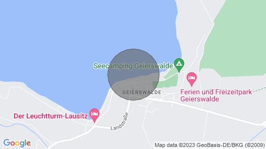 Holiday Homes in der Lausitz auf dem Geierswalder See, Geierswalde Map