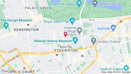 The Queen's Gate Hotel Map