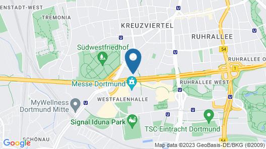 Dorint An den Westfalenhallen Dortmund Map
