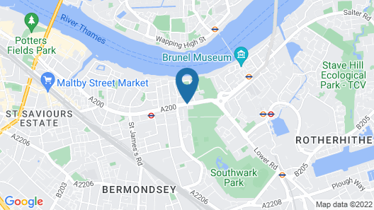 Chic Aparts in Bermondsey by City Stay Aparts Map