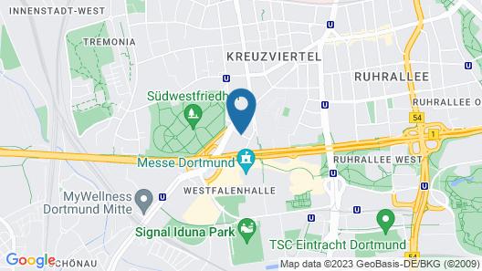 Steigenberger Hotel Dortmund Map