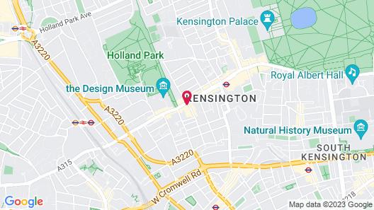 Seraphine Kensington Olympia Hotel Map