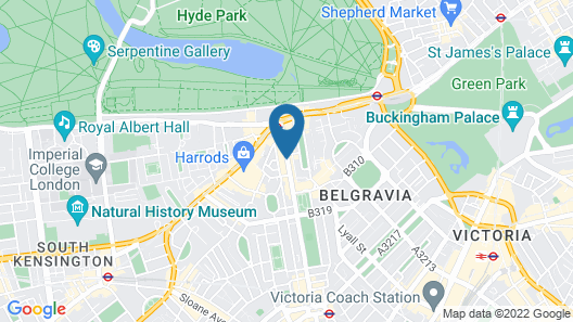 Millennium Hotel London Knightsbridge Map