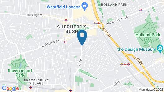 Euro Hotel Hammersmith Map