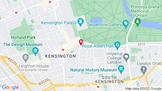London Aparthotel Map